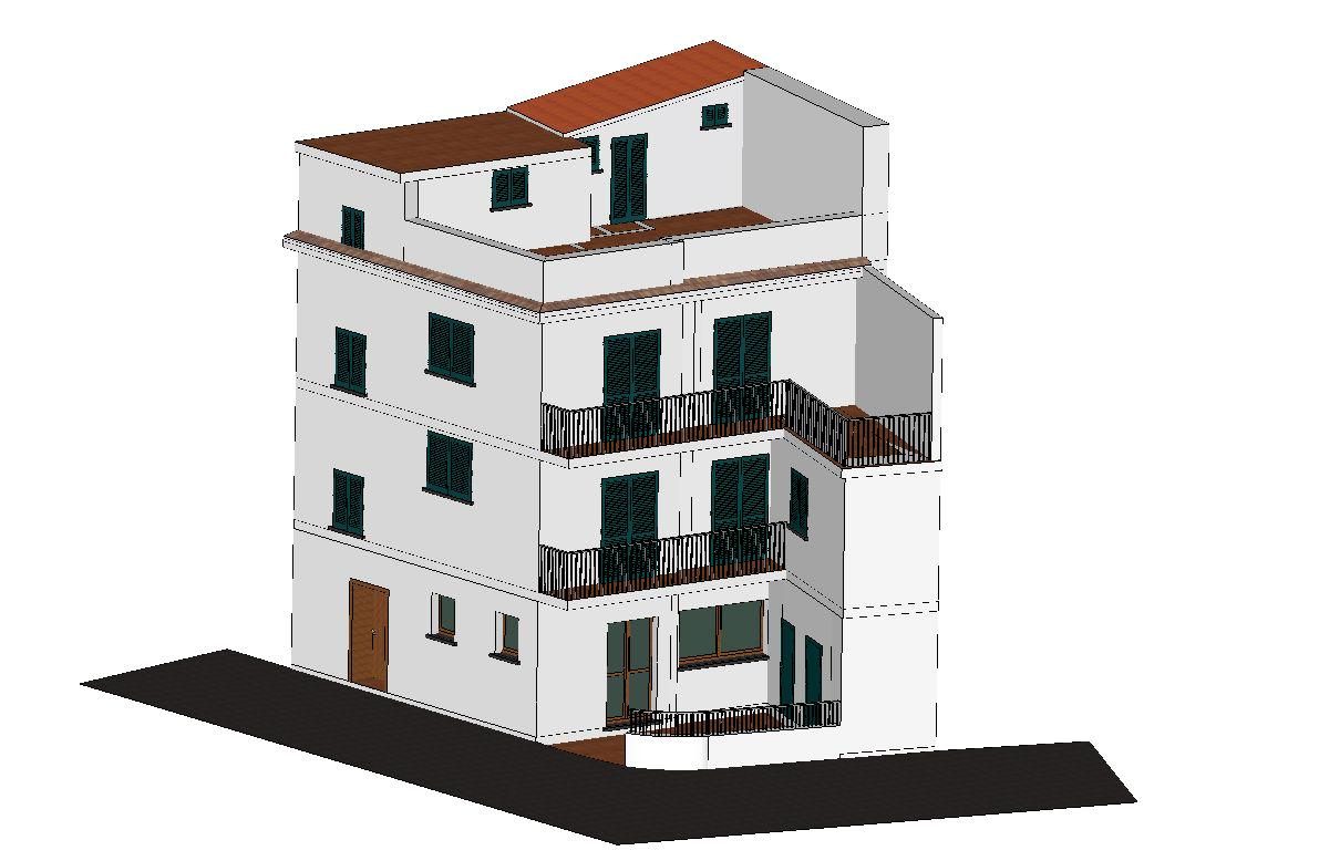 Dorgali casa indipendente su tre piani tholos for Capannone piani di casa